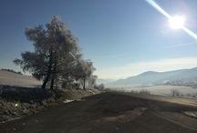 Frozen landscape / Slovakia, okres Stará Ľubovňa