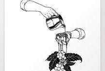 desenhos fofos de café bem adriano
