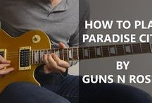 How To Play Paradise City Guitar Cover - Guns N Roses / http://playitrightguitar.com/ - A video demonstrating How To Play Paradise City Guitar Cover by Guns n Roses.  The equipment I used to record this song was an Epiphone Les Paul Gold Top, and the AmpKit amp on my iPhone. The preset I used was Modern Metal Lead for the dirty/crunch parts, and Modern clean for the clean intro.