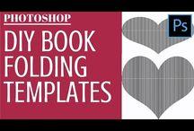 Book folding templates