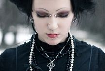 Goth Hair / Hairstyles for cyber goths, pastel goths, regular goths, etc.  50% black, 50% bright - apparently it's more complicated these days.  A lot of these images are for my own inspiration - I will post some hair selfies if I get anything interesting done.