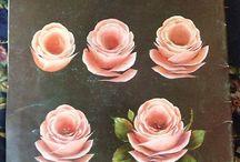 peindre des roses