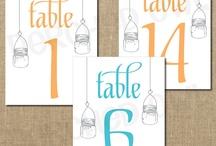 Tarjetas de distribucion de mesas en una boda