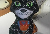 Fabric Cats /  Cat projects created with your embroidery machine