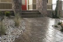 Stamped Concrete Pathways/Pads/Firepits