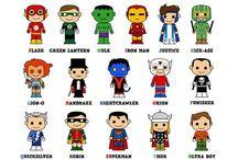 Superhero / Superheroes in learning action!
