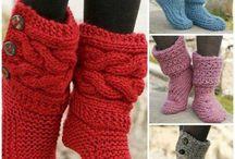 Sokken slippers crochet