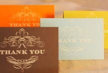 2014 Engraved Scroll Thank You Assortment / Sophisticated and ethereal, intricate scrollwork is engraved in oyster white on these thank you notes.  / by Vera Wang Papers