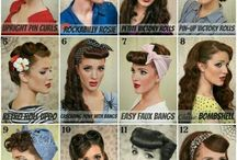 Vintage ( pin up) hairstyle