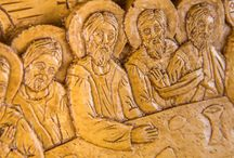 Hagiography / Hand carved Christian Hagiography made by pure beeswax, mastic and incense from Mount Athos
