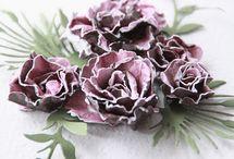 Paper- Textil Crafts - Tulle Pom Pom / Floricele din hartie/textile