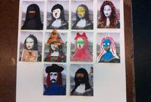 Beeldende Vorming  / Foto impressie van beeldend werk van leerlingen onderbouw voortgezet onderwijs - beeldende vorming