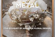 """Marriage of Metal: A Decor Inspiration Story {The Bouquet from Ambience Floral Design} / From the """"Marriage of Metal"""" feature in the WS14 issue of Real Weddings, Photos by www.LilyRosePhotography.com © RWM; Hair/Makeup: www.SpecialEventHairandMakeup.com; Gown: www.AlwaysElegantBridal.net; Accessories: www.Macys.com; Flowers: www.AmbienceFloral.com; Design: www.CatrinaMaria.com; Decor: www.DogwoodPartyRentals.com and www.CelebrationsPartyRentals.com. For all vendors and more, see: http://www.realweddingsmag.com/ambience/"""