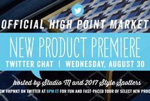 Twitter Chat Preview Picks - High Point Market - Fall 2017 / A selection of this seasons most exciting new styles as presented by our 2017 Style Spotters in the High Point Market New Product Premier Twitter Chat. To join the chat, follow #HPMKT on Twitter Wednesday, August 30, 6pm ET