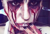comic makeup (cel shading + popart)