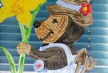 Basteln im Kindergarten / Kreative Arbeiten mit und von Kindern
