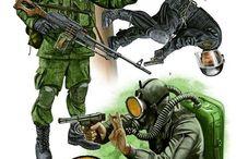 Military Figure Drawings