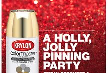 Holiday Craft Projects / Warm up to Hanukkah and Christmas with these colorful craft projects from Krylon.