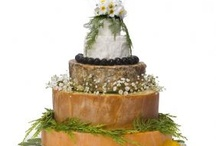 Cakes - real cheese / For those of a savoury disposition, gorgeous piles of fabulously curated cheeses covered in flowers and other pretty things! / by English Wedding Blog
