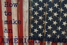 USA Patriotic DIY Projects / Inspiration for patriotic or red, white and blue craft or DIY projects