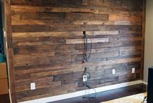 Feature wall living room