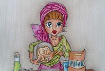 Coloriert mit Polychromos