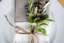 Table setting / Table setting with natural elements.