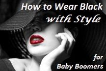 How to Wear Black with Style / Whether you choose to wear a wardrobe of all-black clothes or have some black outfits, there are lots of ways beyond gold, silver, or red to make you in your black clothes stand out with style and confidence. The key is to create a light & dark contrast. #blackwithstyle #babyboomers