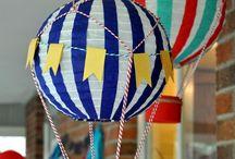 Ideias pro aniver de 1 ano de Theo / Balões, uma festa nas nuvens!