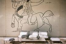 muur tekening