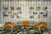Дизайн-проект интерьера многофункционального молодежного центра в стиле милитари / http://hti-design.ru/portfolio/projects/youth-center-in-military-style.html