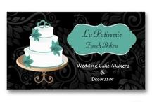 Cake Maker Business Cards / elegant cake maker business cards, wedding cake makers visiting cards, cake decorator business cards