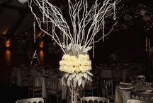 Seasonal Tall Table Centerpiece / Beautiful elegant seasonal themed table centre piece for your special occasion.  This design can be adapted to any season and colour.