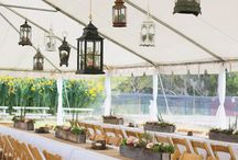 Tented Reception / Looking for an outdoor tented wedding reception for your big day? We love hosting weddings on our property & here is a little inspiration for you!