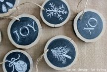 blackboard ornaments