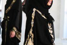 Abayas and hijaab / by Roquyya Hasan