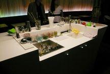 Hôtel O / Création, fabrication et pose des éléments inox du bar en Corian de l'Hôtel O sous la direction artistique de Ora Ito.   Crédit photo : Barbara Wroblewski
