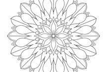 Mandalas e Doodles / Mandalas e desenhos para imprimir e colorir