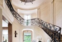 faux stone - entrance hall