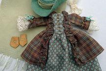 Folk, vintage doll clothes