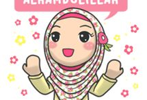 cartoon muslimah
