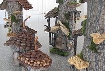 Christmas fairy houses