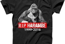 Harambe T-Shirts and Apparel / RIP Harambe T-Shirts and Apparel for Men's, Women's, Kids, and Toddlers. Available on T-Shirts, Hoodies, Tanks, Sweaters, Long Sleeves, Mugs, Bags, and more. Many Colors and Sizes are available. Take 20% Off Your Order! Ends on September 1st Use Code: AUG20. Shop Now.