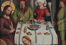 Medieval painting details