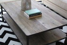 Loungeroom Decor / Coffee table, styling, prints, art
