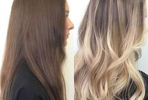 From brunette to blonde