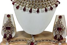 Exclusive Indian Bollywood Design Kundan Jewelry Set
