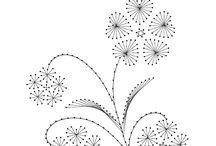 Fadengrafik Blumen