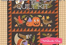 Ghouls, Ghosts and Goblins - Halloween / Halloween fabric collections, quilts, and even a few decor tips!