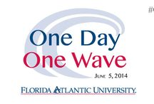 One Day, One Wave / The purpose of One Day, One Wave is to build excitement about FAU, raise funds for student scholarships & university programs, and bring all our online communities together on one day of unity in support of FAU!  Our goal is to have as many alumni and friends participate as possible. Every gift, regardless of the amount, will make an impact. Funds can be given to any program at FAU, be it academics, athletics, alumni association, whatever you want!  fauf.fau.edu  #OneWaveFAU / by Florida Atlantic University